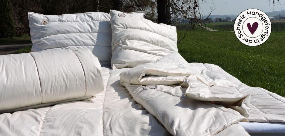 Alpaka Bettwaren Schweizer Handarbeit