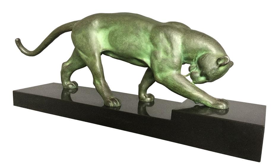 Artdeco Skulptur, Artdeco Panther, Bronze, Alexandre Ouline, Ouline, Artdeco Schweiz. Artdeco Zürich. Artdeco Basel. Artdeco Genf.