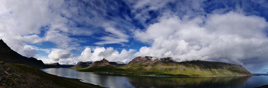 llb pics - islande - kambsnes - vue sur sudavik - alftafjordur - le long barbare