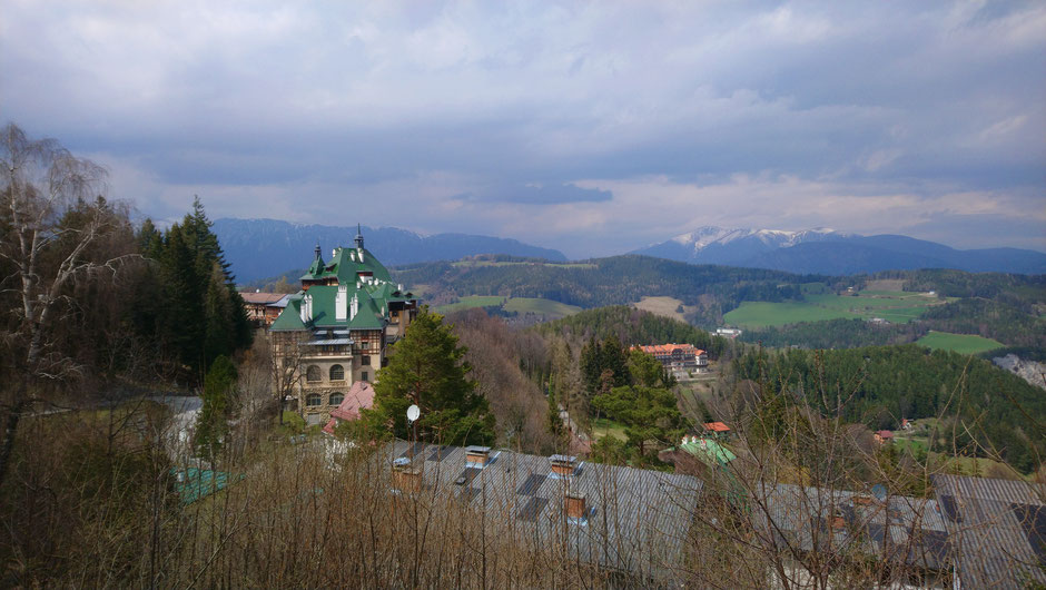 Semmering, Niederösterreich, Südbahnhotel, Weltkulturerbe Semmeringbahn, Schneeberg, Alpen