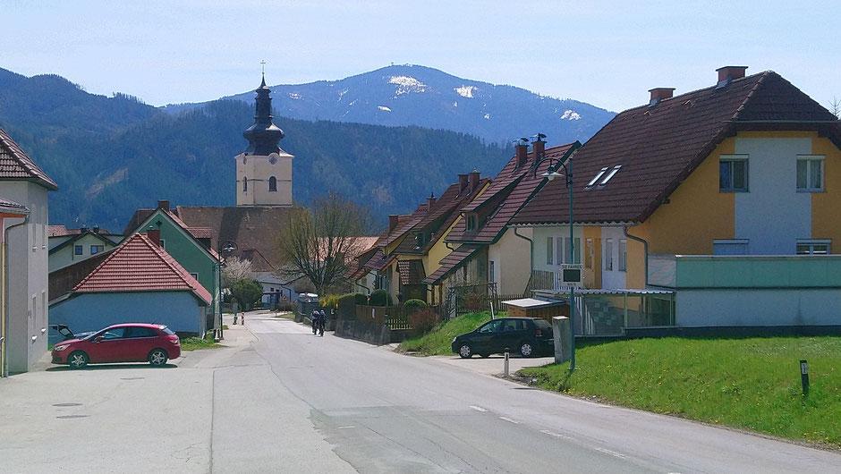 Mürztal, St. Lorenzen, Ortseinfahrt