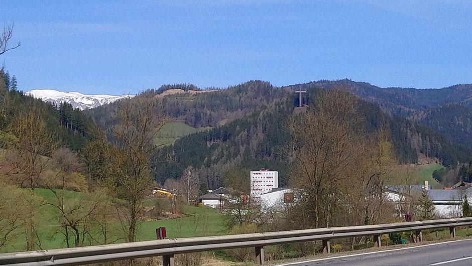 St. Barbara im Mürztal, Pilgerkreuz, R 48, Veitschtalradweg, Hohe Veitsch, Hochsteiermark, Radtour