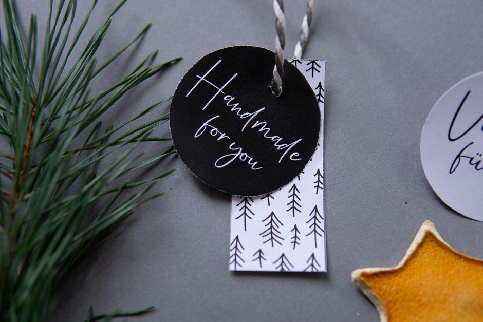 freeprintable Geschenknhänger Handmade von Wooltwist