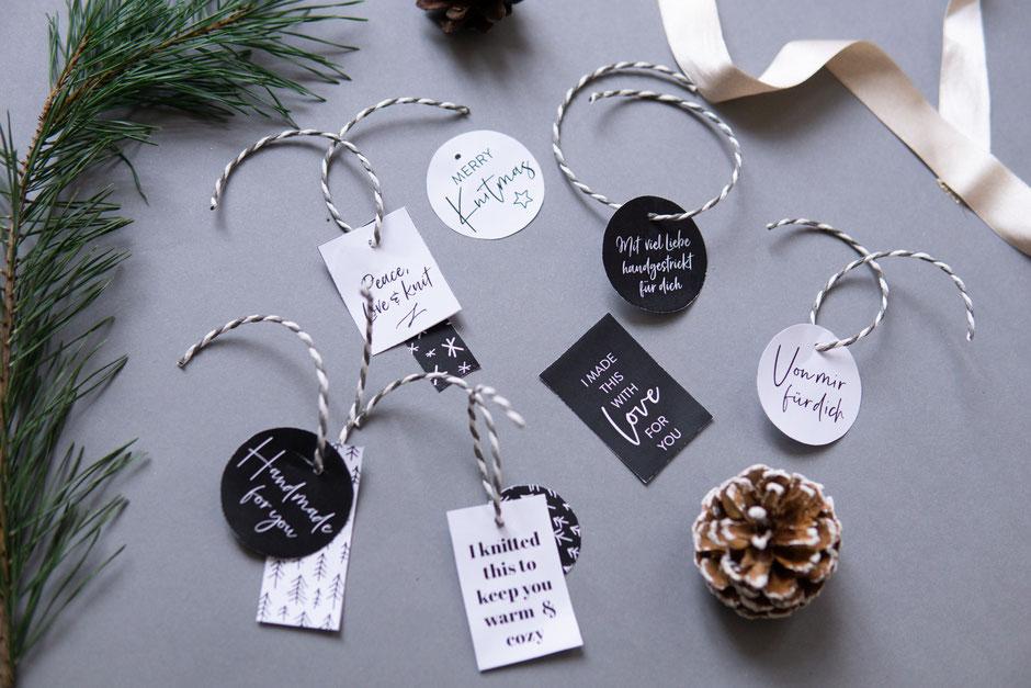 freeprintable gift hangtags für handmade Produkte von Wooltwist