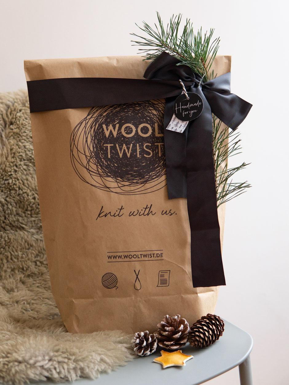 Strickset von Wooltwist, Geschenkanhänger zum Ausdrucken von Wooltwist