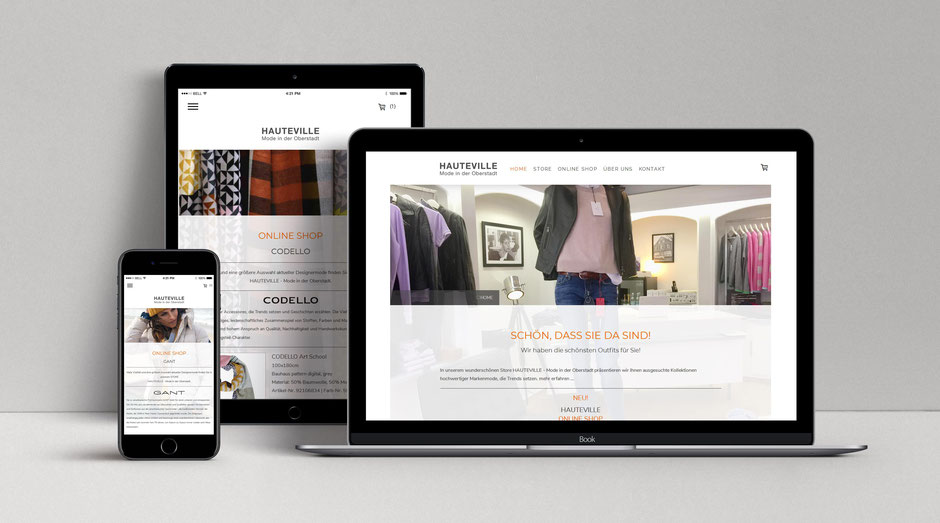 Website - E-Shop | Konzeption, Design und Umsetzung | © Coup. Corporate Design