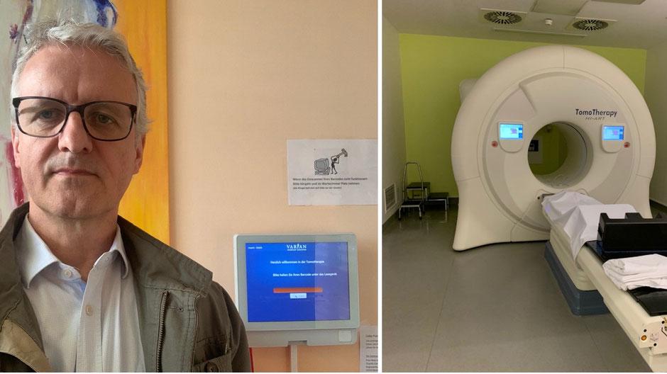20 Besuche in vier Wochen - Strahlentherapie zu Beginn des Lockdowns