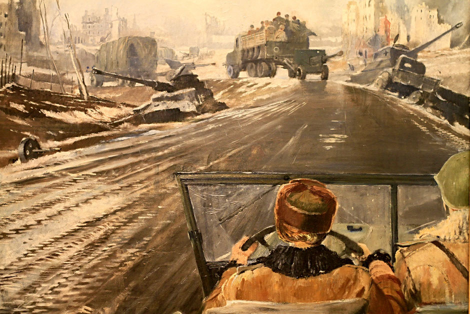 Musée russe. Front-Line Road. Youri Pimenov.