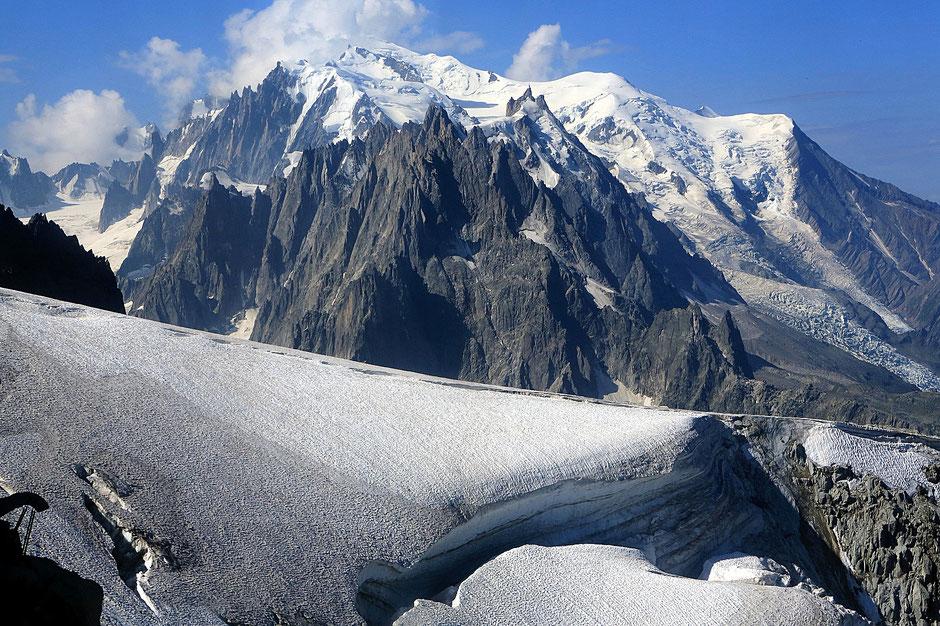 Mont-Blanc. Vue depuis l'Aiguille des Grands Montets (3.300 m). Argentière. Haute-Savoie.