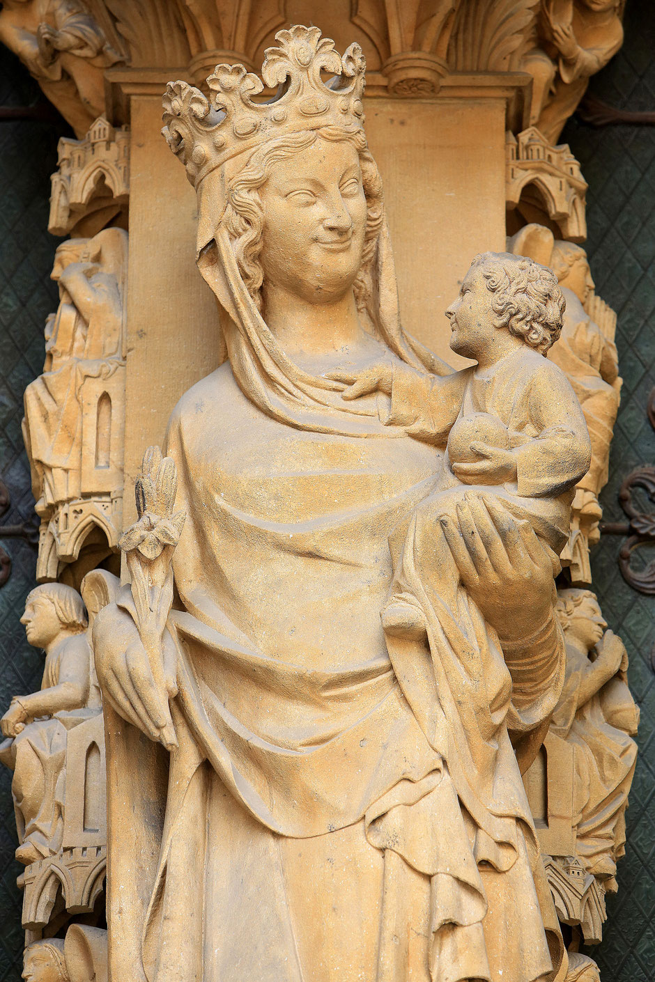The Portal of the Virgin smile. St. Stephen of Metz Cathedral.