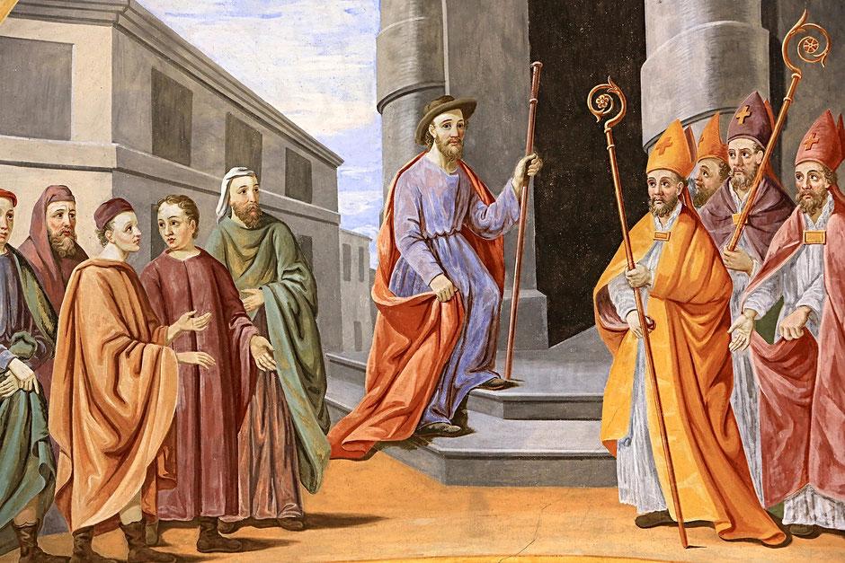 Saint-Nicolas est choisi pour être évêque de Myre. Eglise Saint-Nicolas de Véroce.
