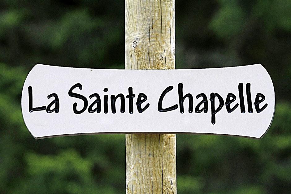 La Sainte-Chapelle. Contamines-Montjoie. Haute-Savoie.