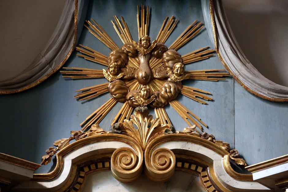 Haute-Savoie. Saint-Gervais-les-Bains : église Saint-Gervais-et-Protais. Oeil de Dieu.