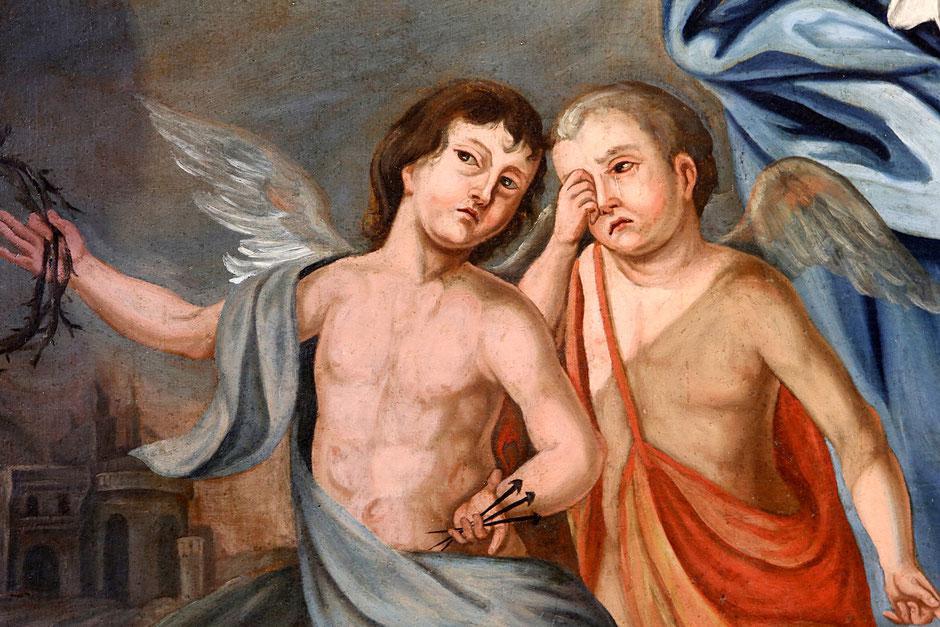 Anges qui pleurent la mort de Jésus-Christ. Eglise Notre-Dame de l'Assomption. Cordon.