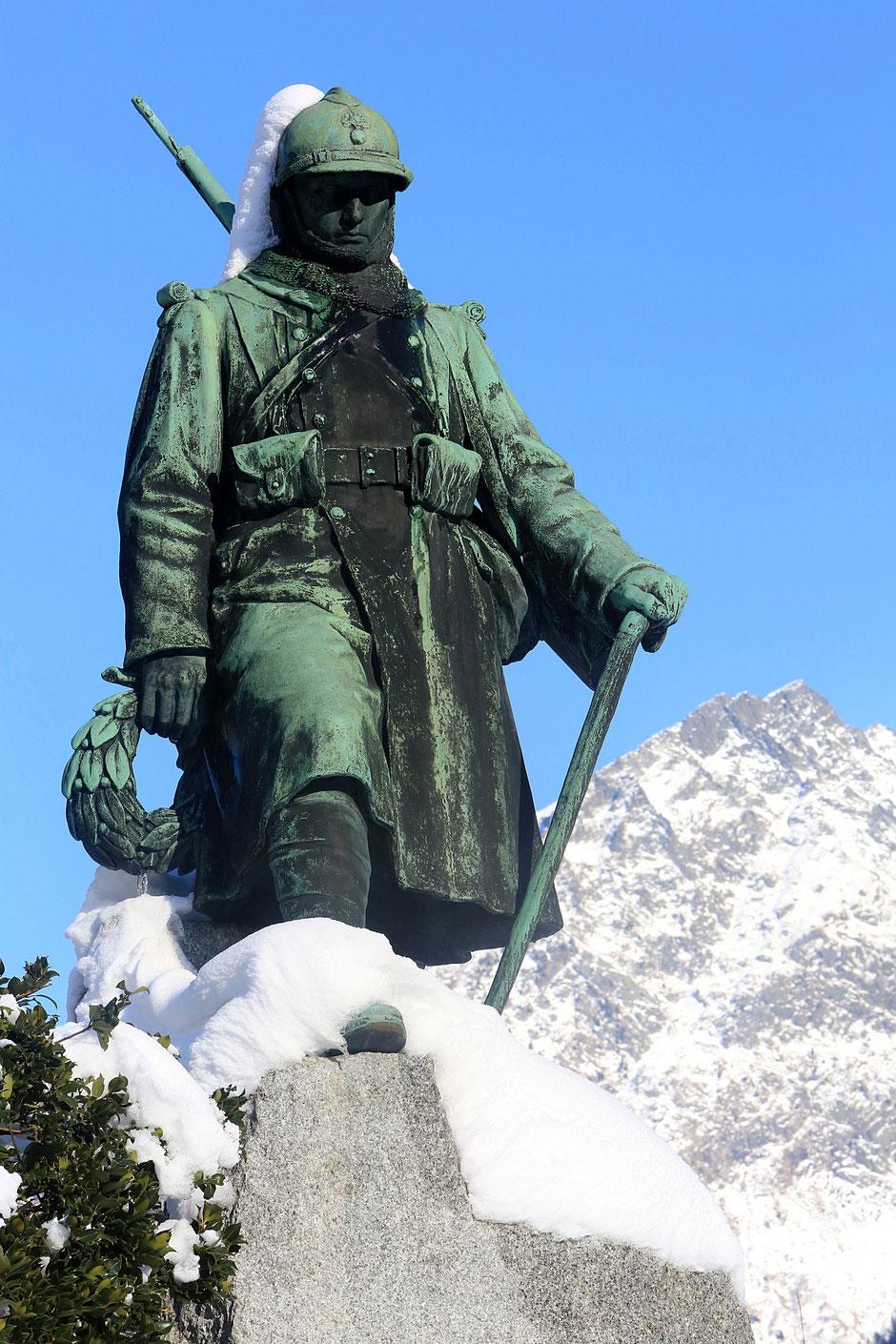 Monument aux morts de 14-18. Chamonix. Haute-Savoie.