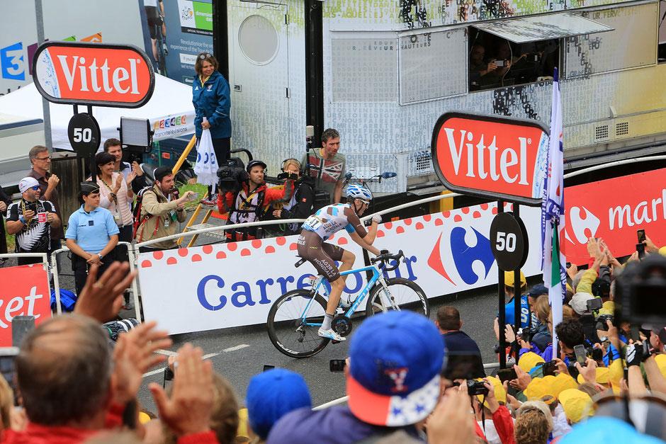 Tour de France. Romain Bardet. 22 juillet 2016. Saint-Gervais-les-Bains / Le Bettex.