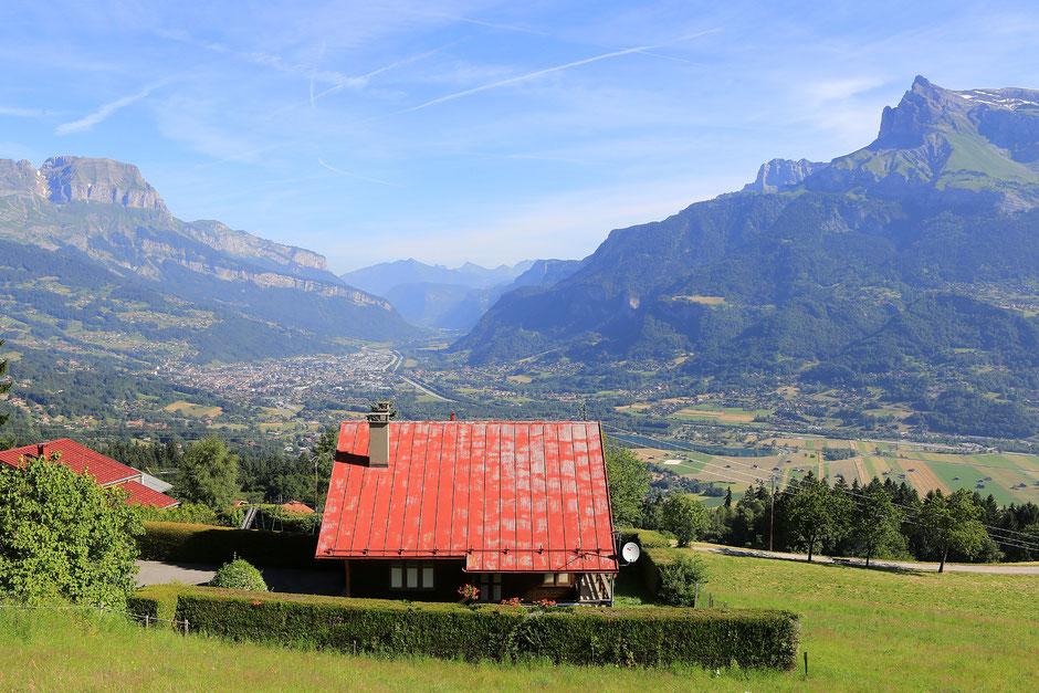 Vue sur Sallanches. Haute-Savoie.