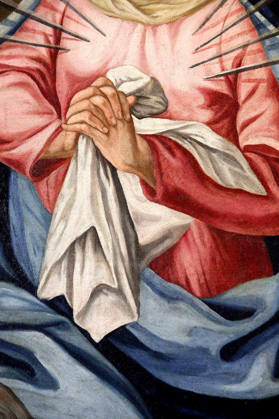 Vierge des 7 douleurs. Détails. Eglise Notre-Dame de l'Assomption. Cordon.