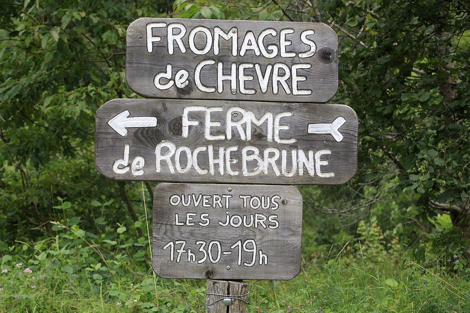Fromage de chèvre. Ferme de Rochebrune. La Salette Falavaux. Isère.