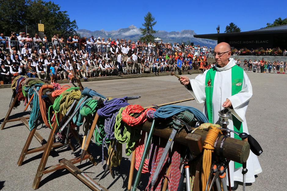 Fête des Guides de Saint-Gervais Mont-Blanc. 7 août 2016.