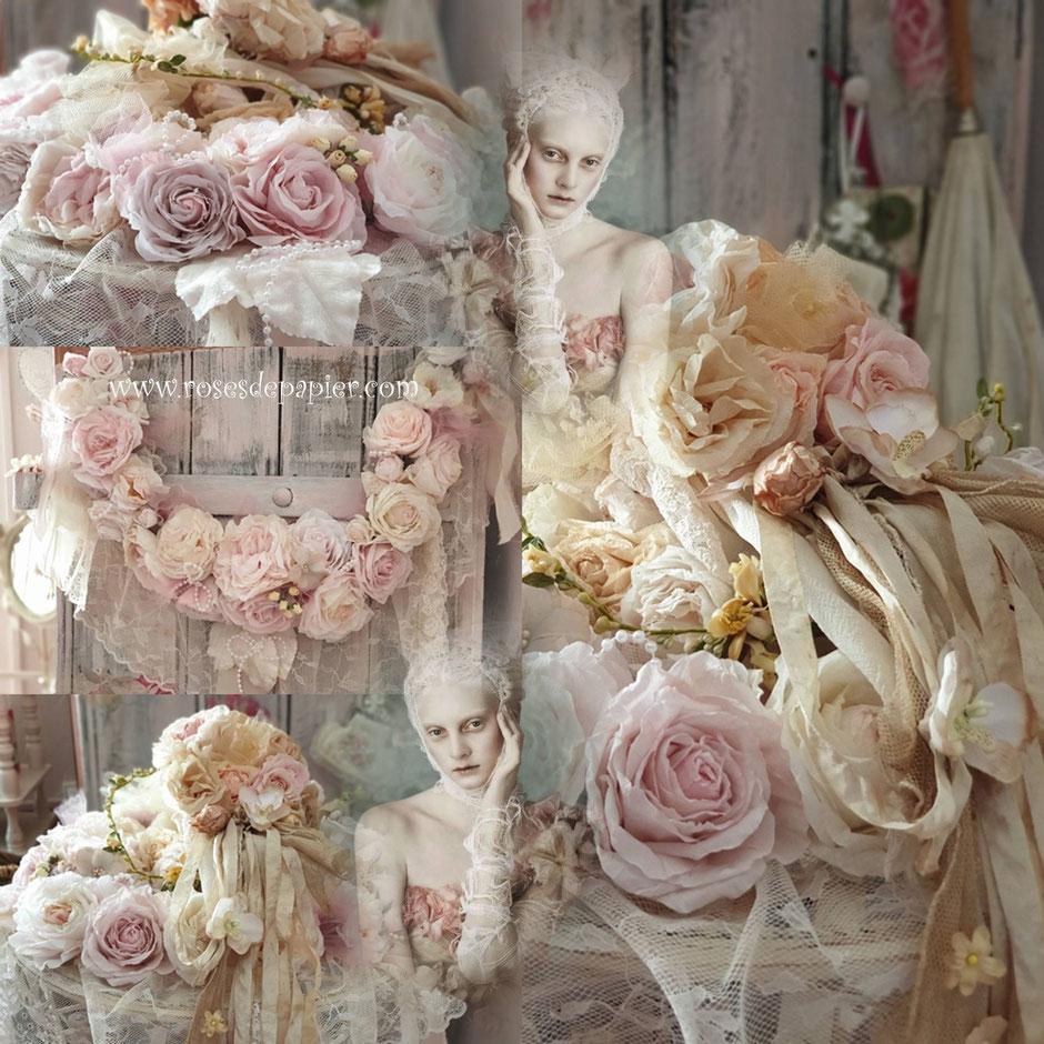 Commandes de mariage. Vous pouvez commander des bouquets, guirlandes, bracelets, boutonnières, roses pour les cheveux ou autres.