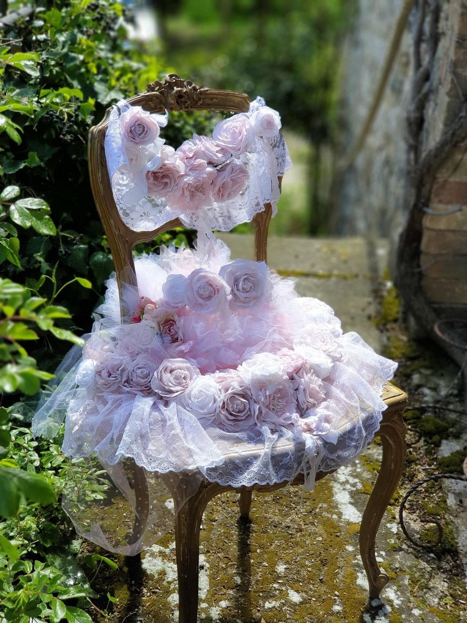 Des roses aussi pour décoration de votre mariage.