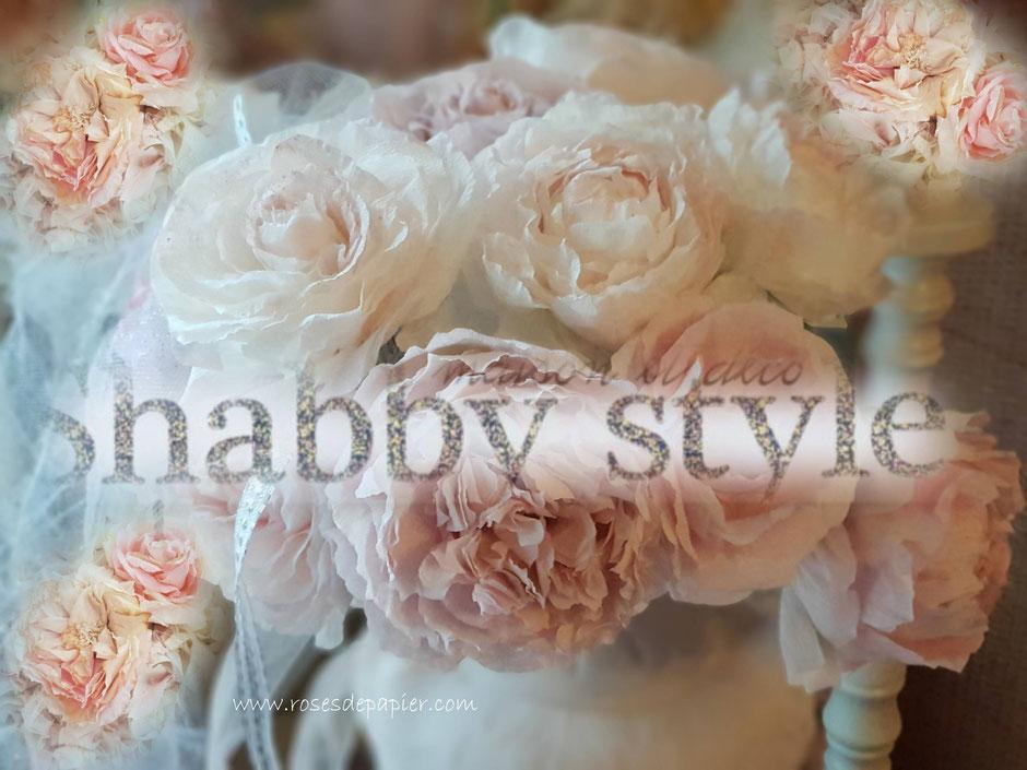 Parution des mes roses de papier dans le magazine SHABBY STYLE de juin/juillet 2019!