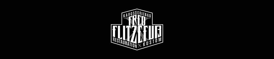 Logo Redesign for Fred Flitzefuß Custom, Negativ Variante für dunklen Grund, negativ Logo, Branding by Zuni from BRAVE & BUTT DESIGN STUDIO