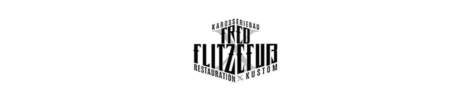 Logo Redesign for Fred Flitzefuß Custom Karosseriebau und Restauration Kustom, Primärlogo für Briefkopf, Geschäftsausstattung und Rechnung. Primary Mark, by Zuni from BRAVE & BUTT DESIGN STUDIO