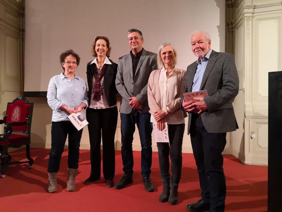 v.l.n.r. OÄ Dr. Sabine Renner, Ao.Univ.Prof. Dr. Förster-Waldl, Dr. Ronny Tekal, Johanna Sadil, Günther Wanke