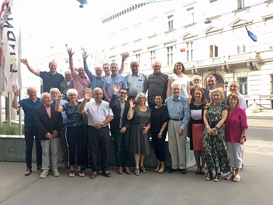 21. und 22. Juli 2018 - die EU-IPFF Generalversammlung mit Gruppenbild in Wien.