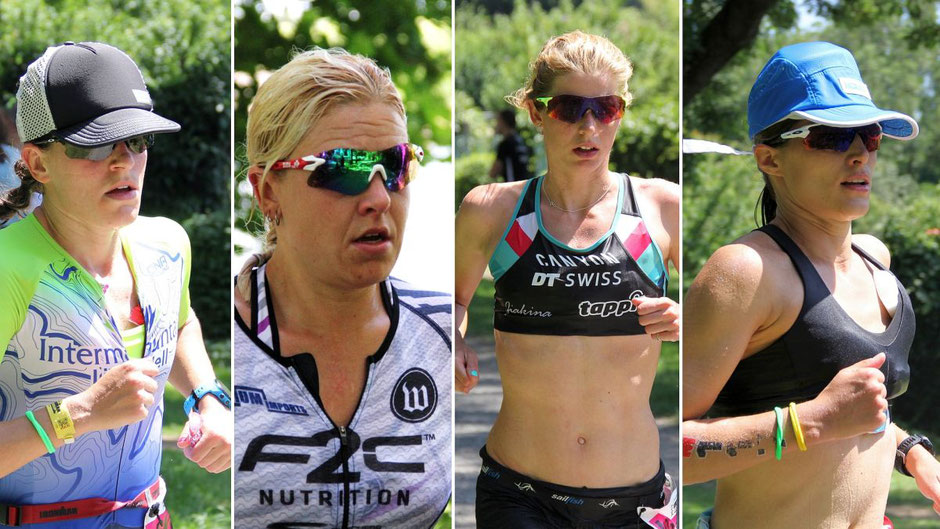 Top-Triathletinnen beim Ironman in Frankfurt: Skye Moench, Jen Annett, Imogen Simmonds, Sarah True