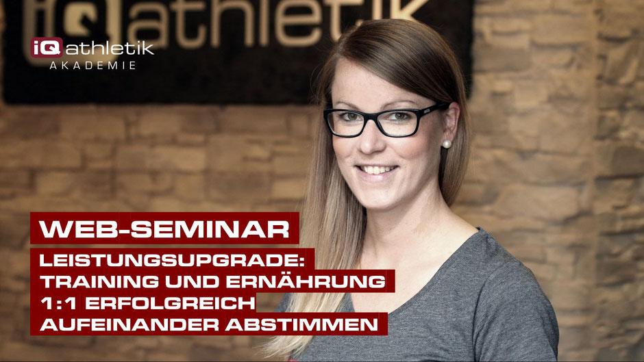 Web-Seminar | LEISTUNGSUPGRADE:  Training und Ernährung 1:1 erfolgreich aufeinander abstimmen