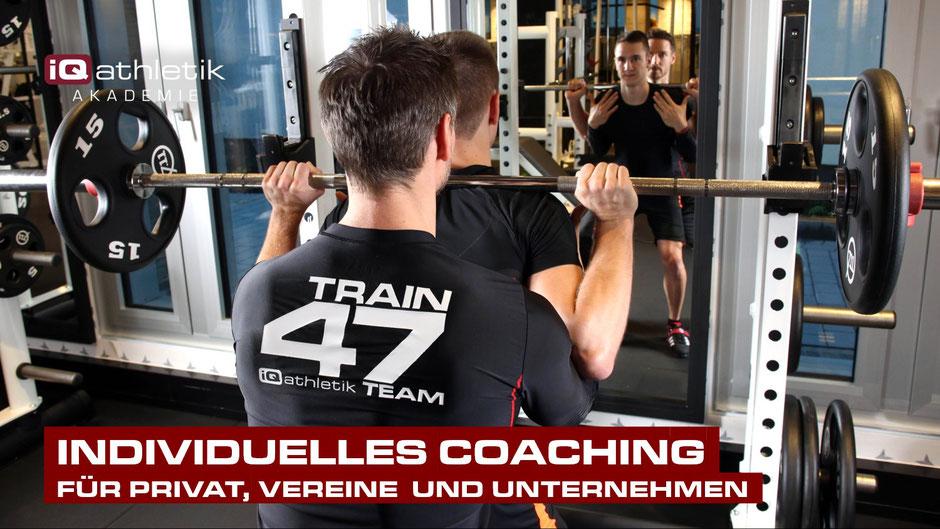 Individuelles Coaching und Personal Training mit den iQ athletik Experten
