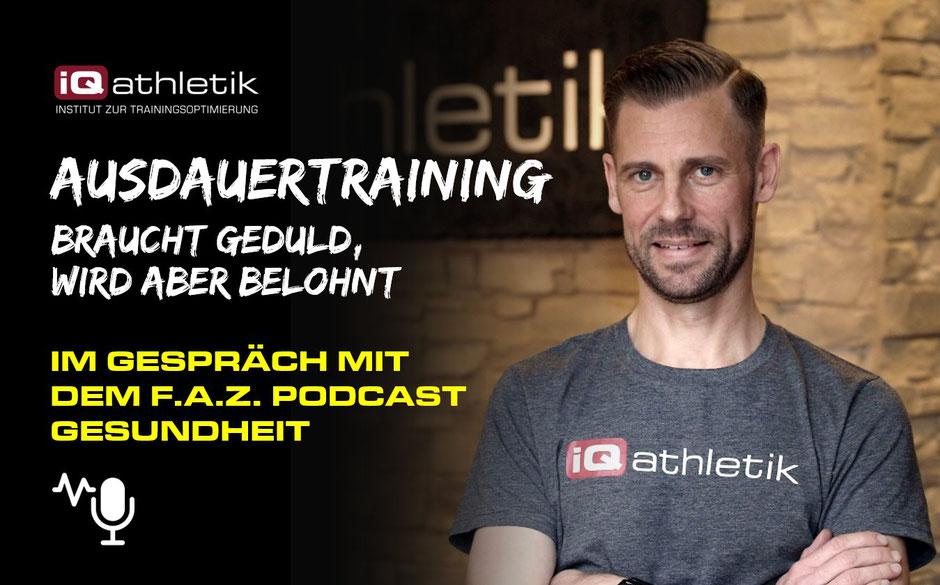 Sebastian Mühlehoff von iQ athletik im Gespräch über Ausdauer und Training mit dem FAZ Gesundheitspodcast