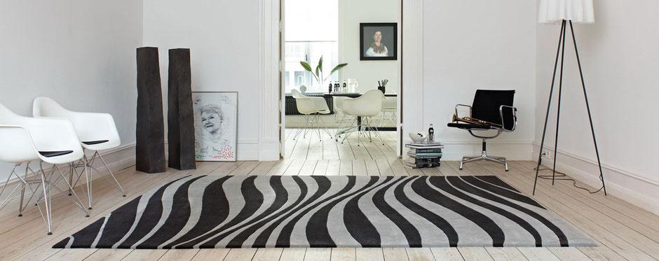 Moderner großer Teppich Movement aus der Kollektion Characters von JAB Abstoez.