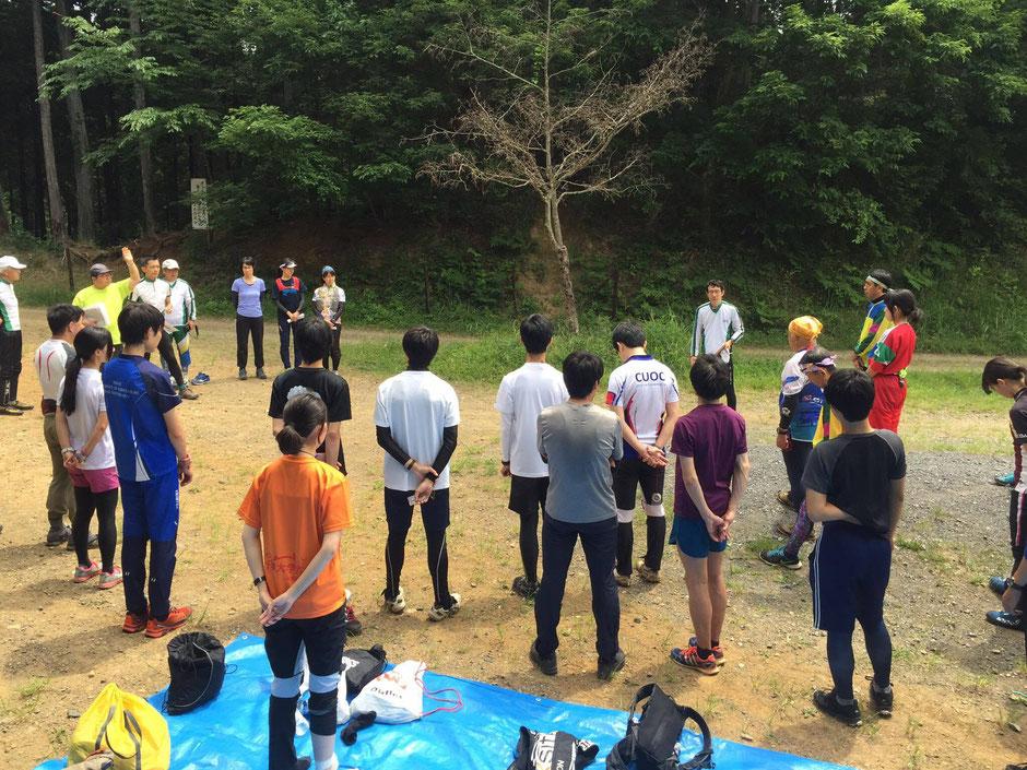 多摩オリエンテーリングクラブ練習会にClub阿闍梨20名が参加'(2017.6.11)