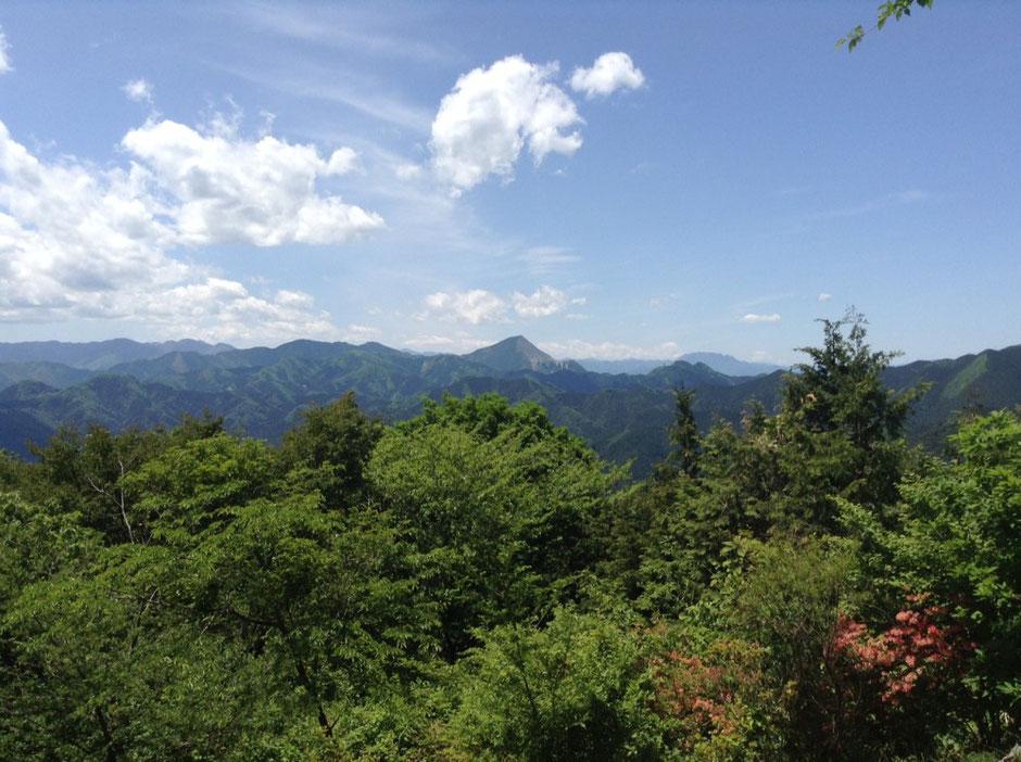 関八州見晴らし台から武甲山方面