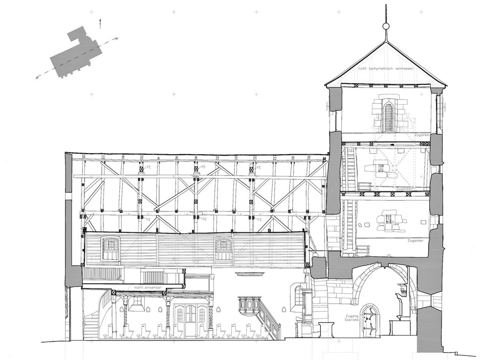 St. Veit Gerach, verformungsgerechtes Aufmaß, Roman Schneider, Gesa Fellner