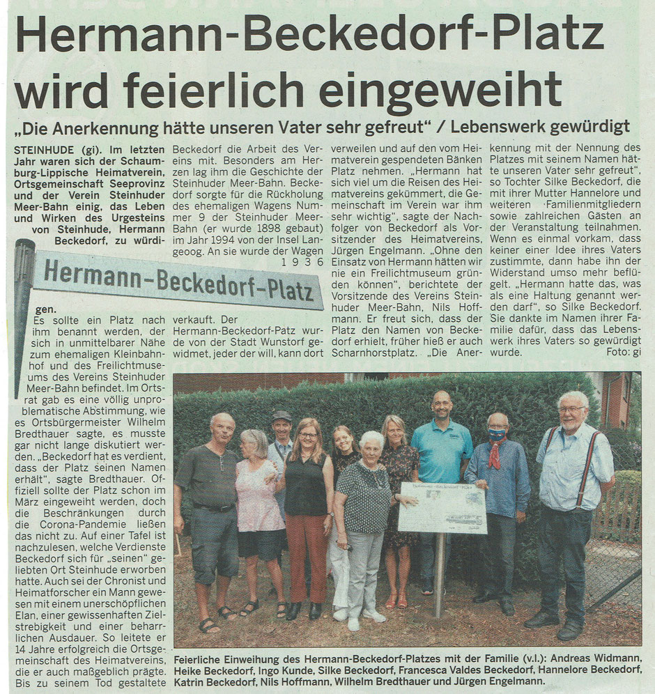Wunstorfer Stadtanzeiger vom 22/23. August 2020