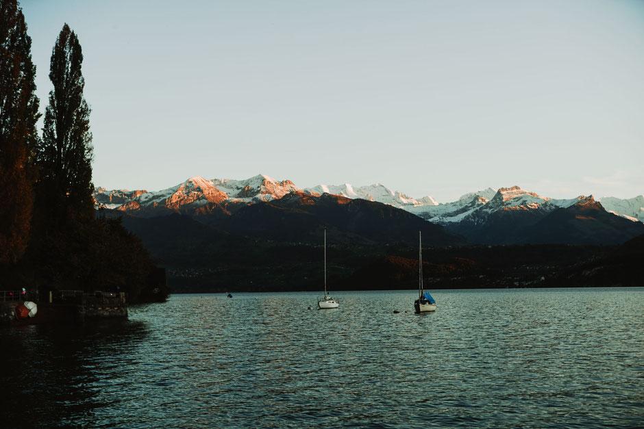 Switzerland golden hour mountains lake photographer destination travel