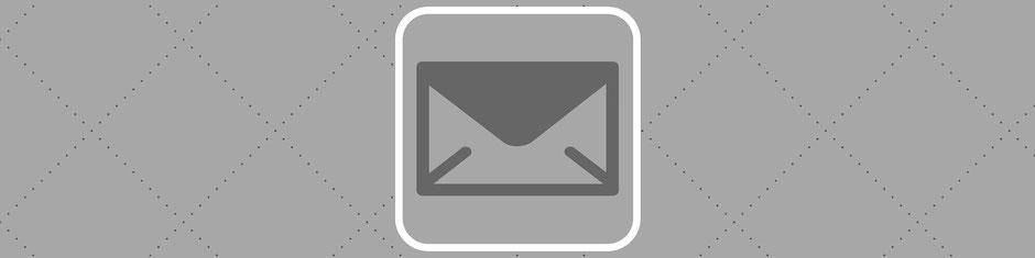 Briefumschlag, Signet für die Rubrik Kontakt von Cribin