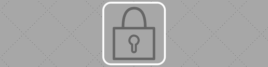 Sicherheitsschloss, Signet für die Rubrik AGB's von Cribin