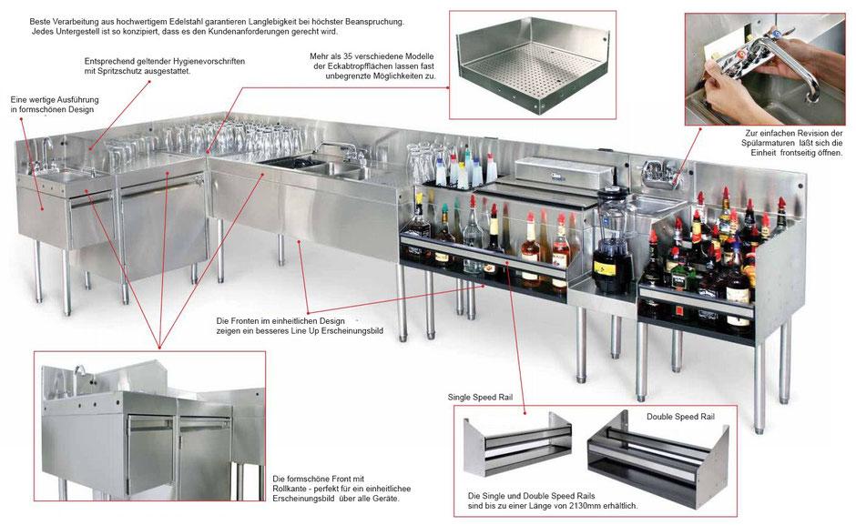 Funktionelle und modulare Gastronomie Einrichtung für Cocktail Bars. Alle Vorteile auf einem Blick.