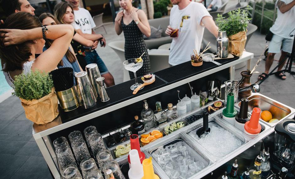 Die kostengünstige Bar für Catering und Gastronomie. Nur vom Barmeister.