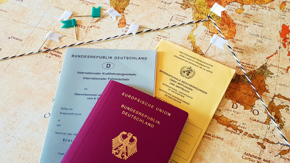 Wichtige Dokumente auf Weltreise