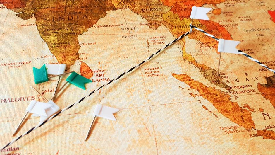 Planung einer Weltreise