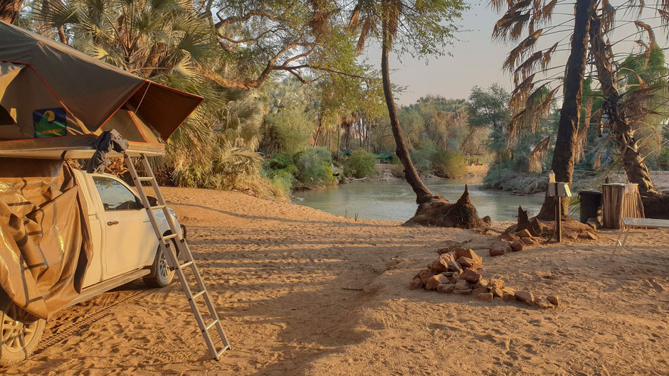 Campsites in Namibia