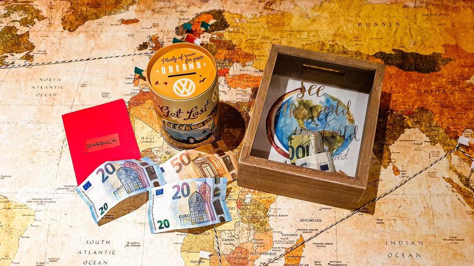 Sparen für eine Weltreise