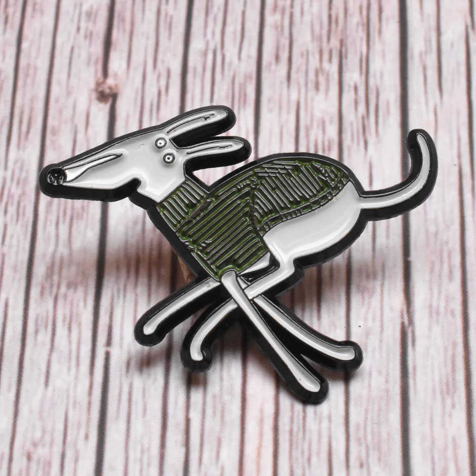 Dog enamel pin badge